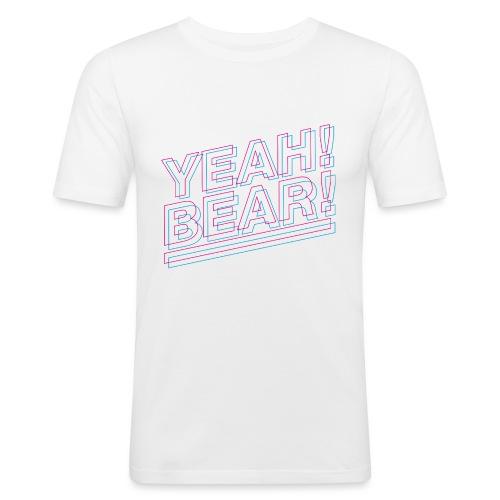 Yeah Bear Layers - Männer Slim Fit T-Shirt