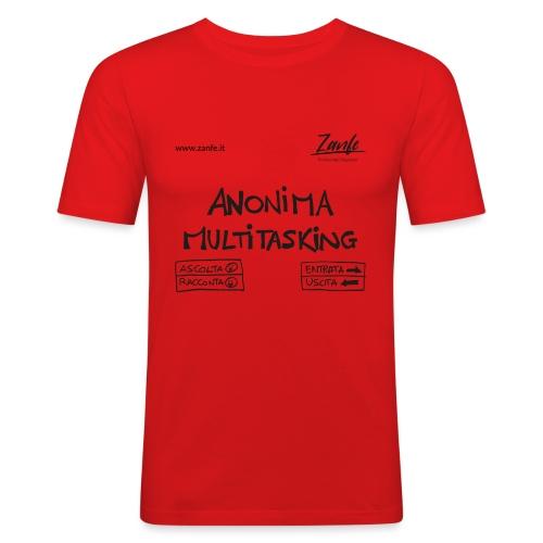 Anonima Multitasking (Nero) - Maglietta aderente da uomo