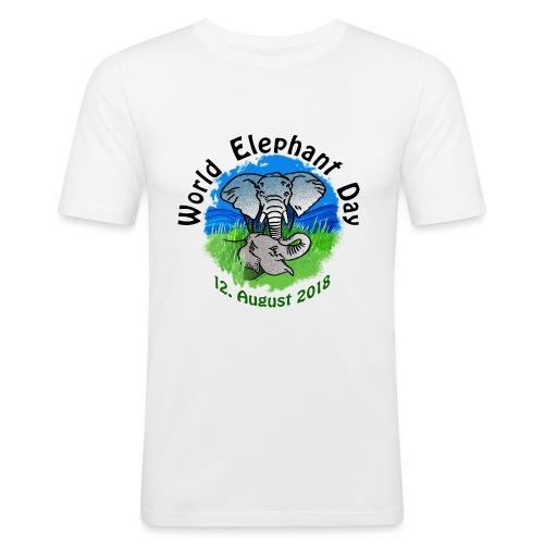 World Elephant Day 2018 - Männer Slim Fit T-Shirt