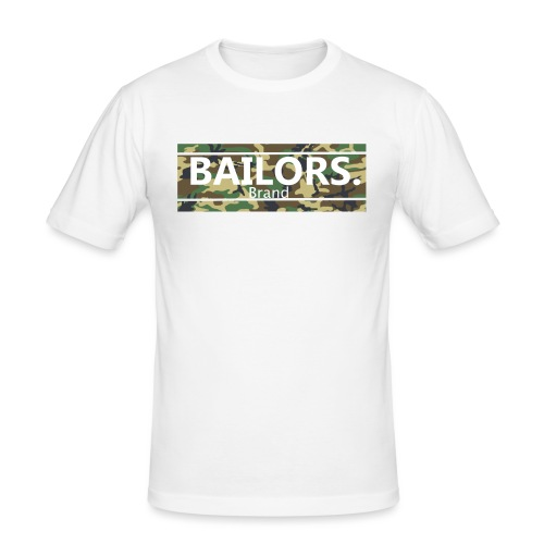 Bailors. camo pattern - Mannen slim fit T-shirt