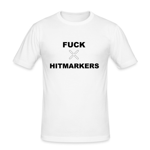 Fuck Hitmarkers Design - Men's Slim Fit T-Shirt