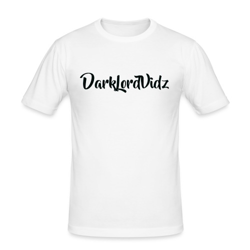 DarklordVidz Black Logo - Men's Slim Fit T-Shirt