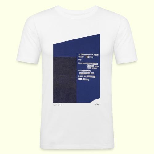 poème bleu 01 - T-shirt près du corps Homme