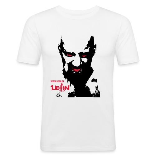 Leon rot 100 svg - Men's Slim Fit T-Shirt