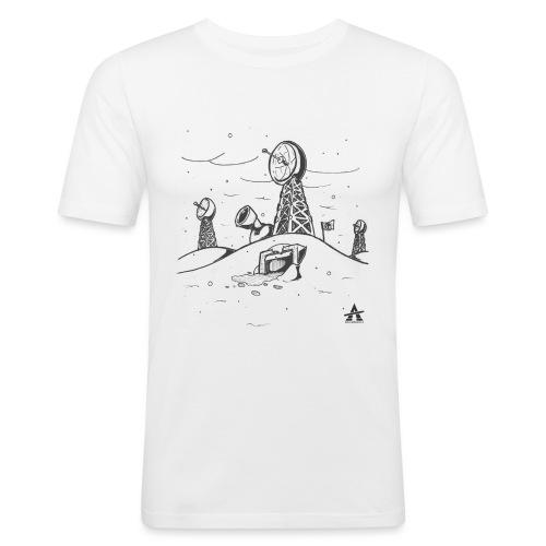 ligne de base arctique croquis - T-shirt près du corps Homme