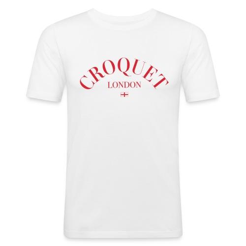 croquet curve4 - Herre Slim Fit T-Shirt
