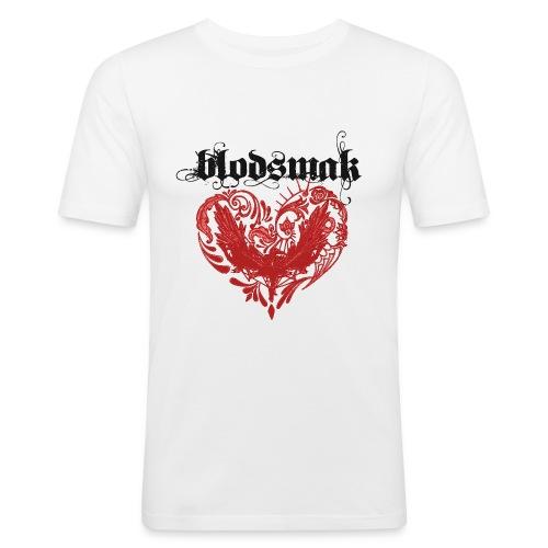 Hjertefuglrød png - Slim Fit T-skjorte for menn