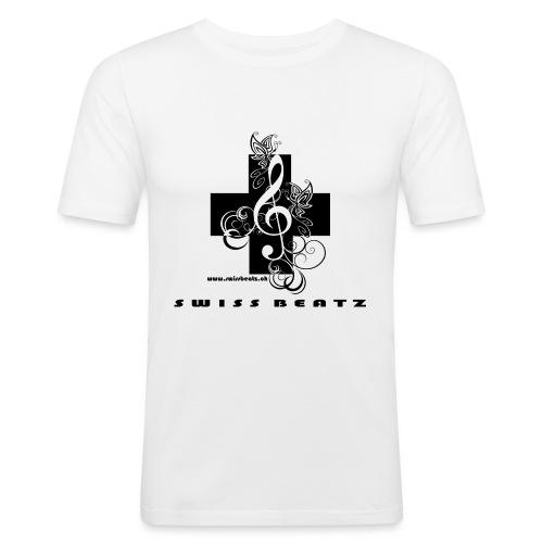 Swiss Beatz Logo with L - Männer Slim Fit T-Shirt