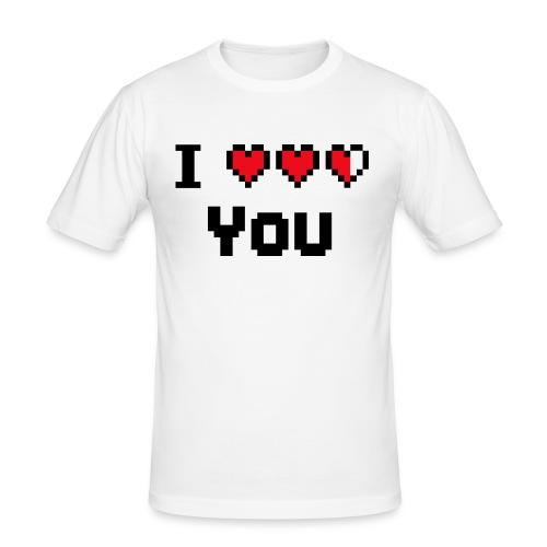 I pixelhearts you - slim fit T-shirt