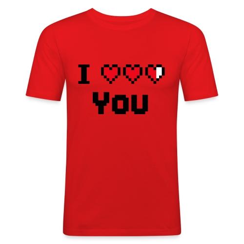 I pixelhearts you - Mannen slim fit T-shirt