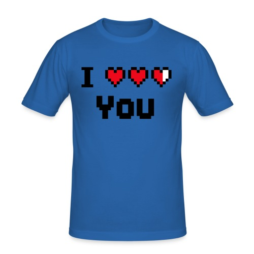 I pixelhearts you - Mannen slim fit T-shirt