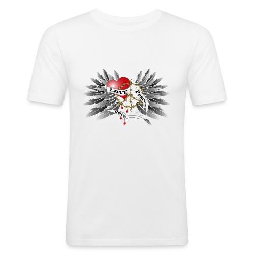 Love, Peace and Hope - Liebe, Frieden, Hoffnung - Männer Slim Fit T-Shirt