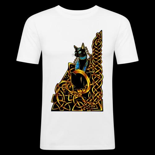 Celtic Cat - sitting - Men's Slim Fit T-Shirt
