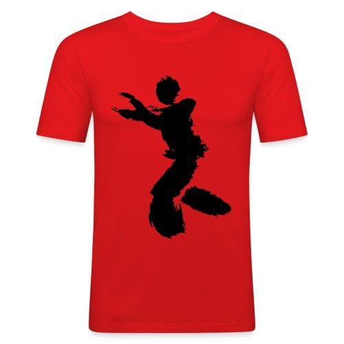 Wing Chun / Kung Fu Tusche Figur VEKTOR - Men's Slim Fit T-Shirt