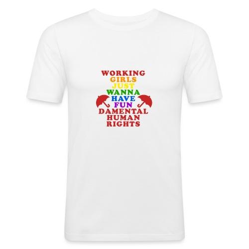 workinnggirlspride - Men's Slim Fit T-Shirt