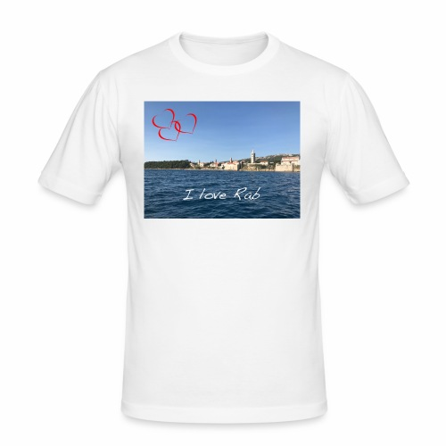 I love Rab - Männer Slim Fit T-Shirt