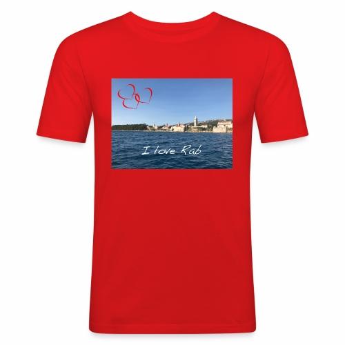 I love Rab - Männer Slim Fit T-Shirt