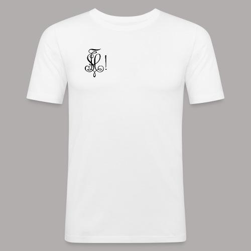Zirkel, schwarz (vorne) Zirkel, schwarz (hinten) - Männer Slim Fit T-Shirt