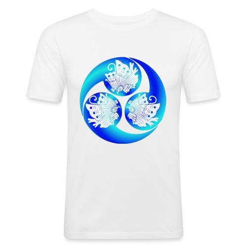 Samurai buttflys blue - Slim Fit T-shirt herr