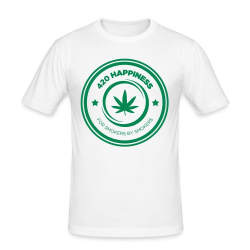420_Happiness_logo - Herre Slim Fit T-Shirt