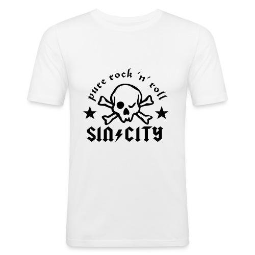 sc skull cr - Männer Slim Fit T-Shirt