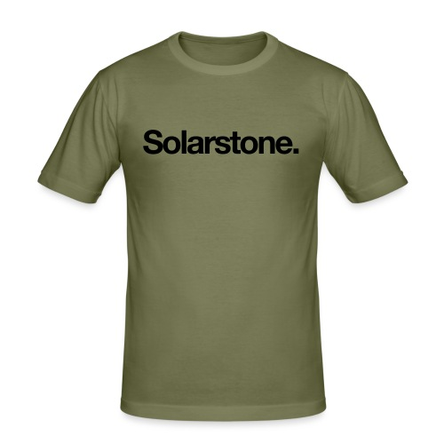 Solarstone Logo Black - Men's Slim Fit T-Shirt