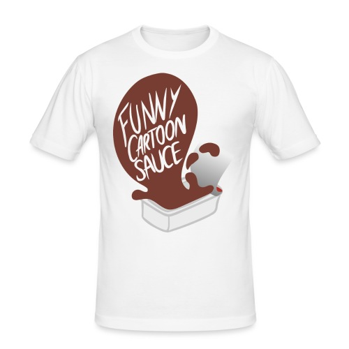FUNNY CARTOON SAUCE - FEMALE - Men's Slim Fit T-Shirt