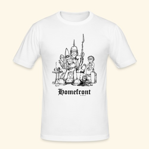 Homefront Heimatfront Waffen Mama Muttersöhnchen - Männer Slim Fit T-Shirt