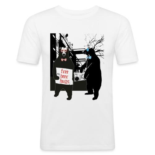 BEER BEARS - Miesten tyköistuva t-paita