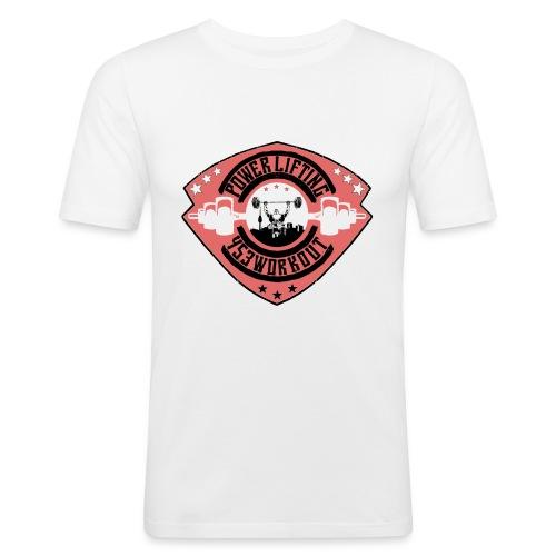 Powerlifterwappenfinal png - Männer Slim Fit T-Shirt