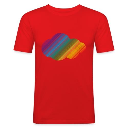Regnbågsmoln - Slim Fit T-shirt herr