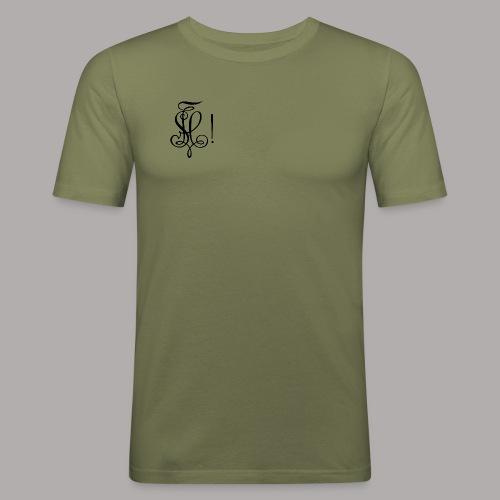 Zirkel, schwarz (vorne) - Männer Slim Fit T-Shirt
