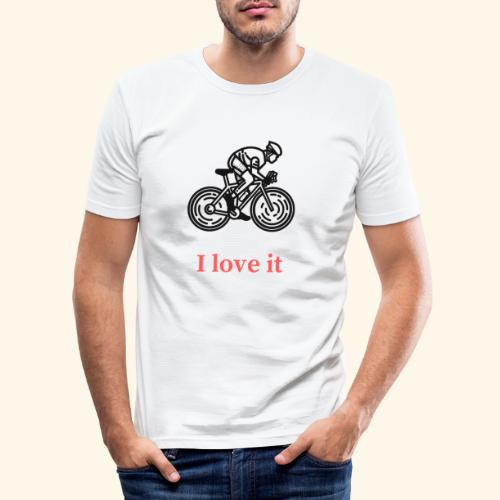 I love my bicycle - Obcisła koszulka męska