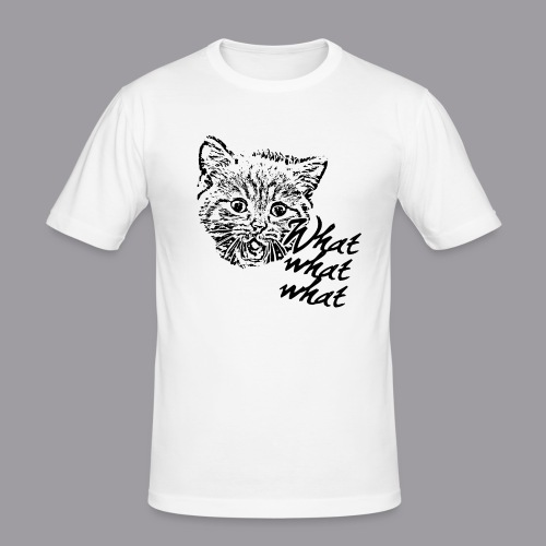 What What What? - Männer Slim Fit T-Shirt