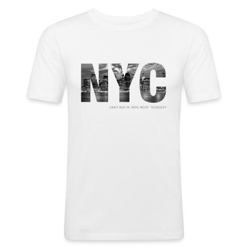 NYC - Mannen slim fit T-shirt