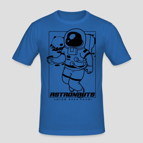 Astronauts loves Beerpong - Männer Slim Fit T-Shirt