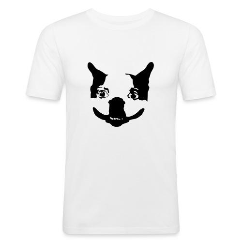 Lennu - Mustavalkoinen - Miesten tyköistuva t-paita