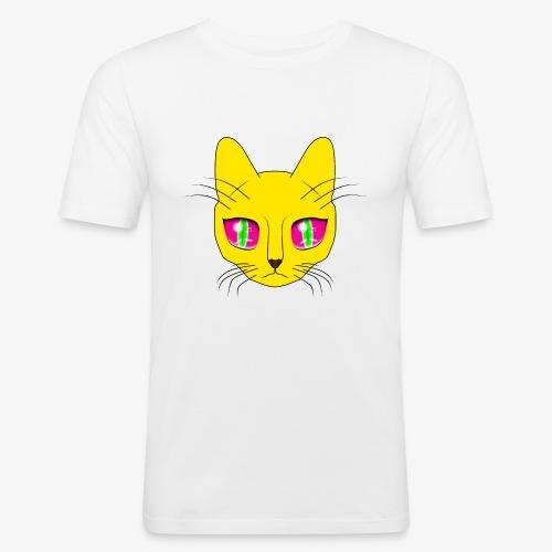 Die Katze mit den großen Augen - Männer Slim Fit T-Shirt