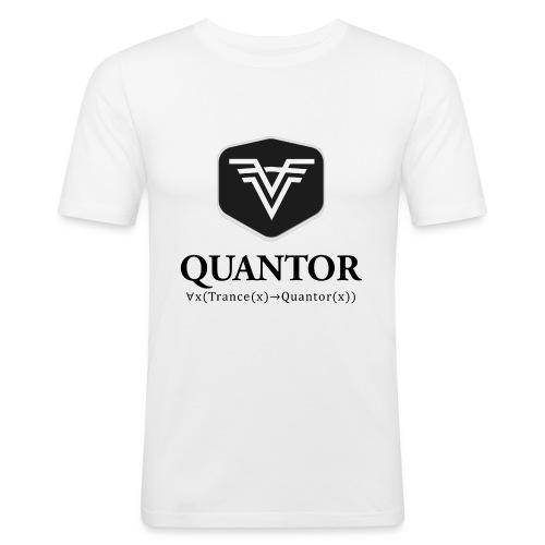 Quantor Logo Black - Männer Slim Fit T-Shirt