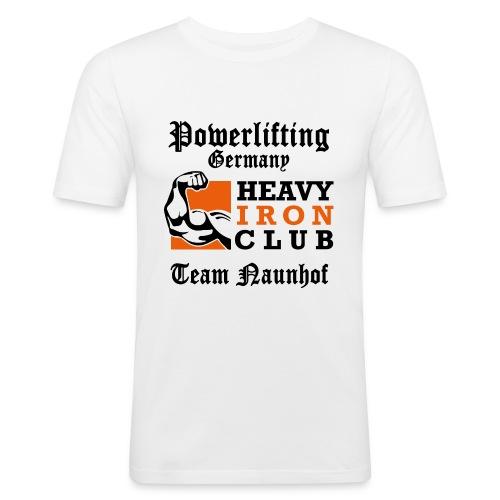 Heavy Iron Club Team-Logo für hellen Untergrund - Männer Slim Fit T-Shirt