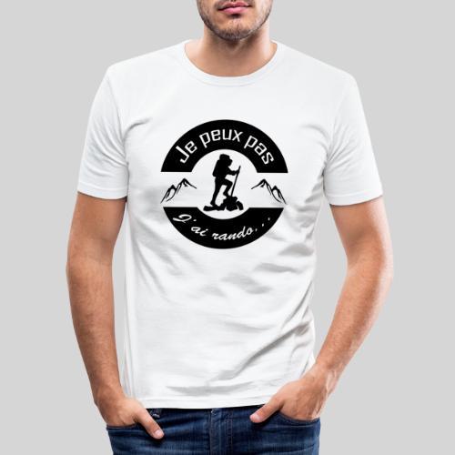 Je peux pas, j'ai rando ... - T-shirt près du corps Homme