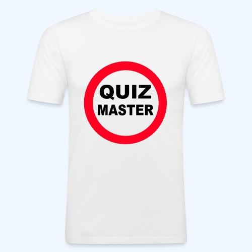 Quiz Master Stop Sign - Men's Slim Fit T-Shirt