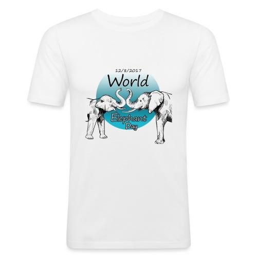 World Elephant Day 2017 - Männer Slim Fit T-Shirt