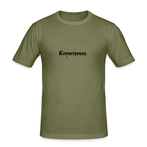 Kapranos Brand (Black / Camo) - Men's Slim Fit T-Shirt