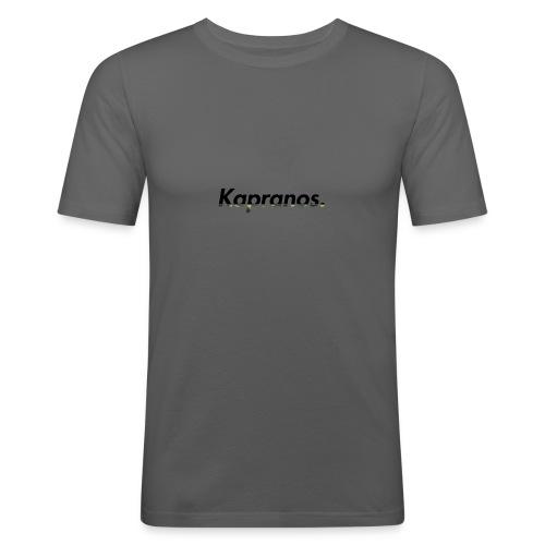 Kapranos Brand (Black / Camo) - Men's Slim Fit T-Shirt