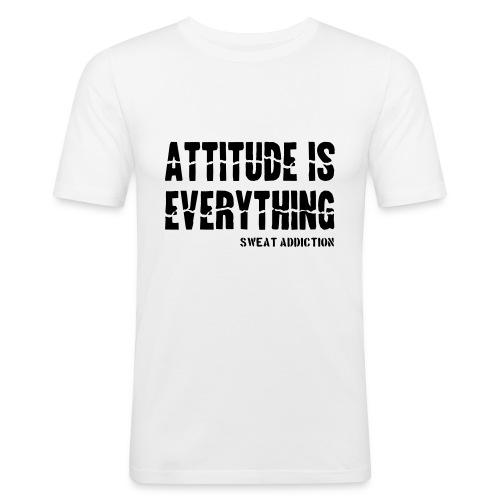Attitude Is Everything - Miesten tyköistuva t-paita