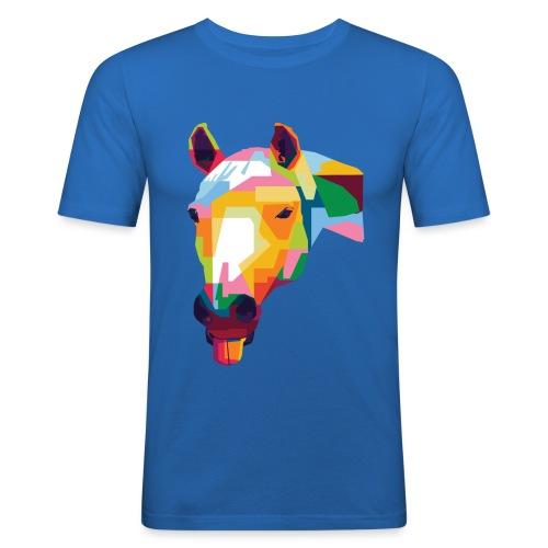 Pferde WPAP Design - Männer Slim Fit T-Shirt