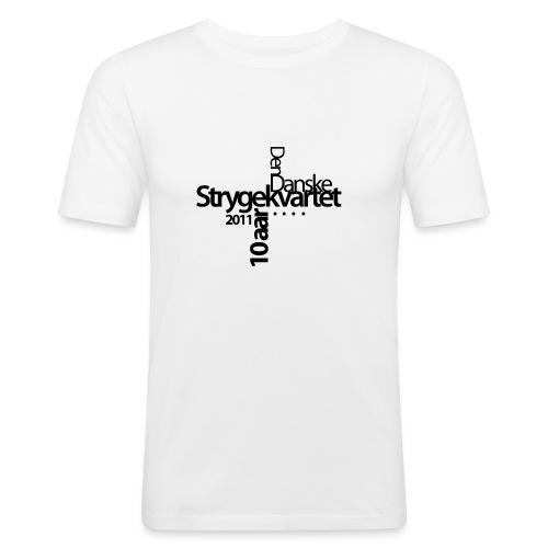 logo dansk sort - Men's Slim Fit T-Shirt