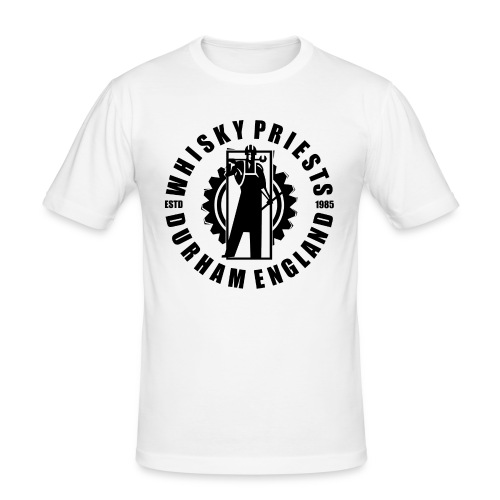 IRON MAN LOGO BLACK TRANS - Men's Slim Fit T-Shirt
