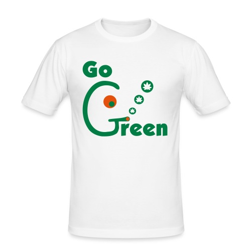 Go Green - Men's Slim Fit T-Shirt
